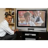 Фотоэффект онлайн со знаменитостями - Барак Обама смотрит телевизор