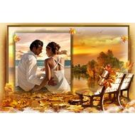 Фоторамка - Золотой осенний закат