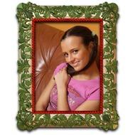 Прекрасная, зеленая онлайн рамка про фото