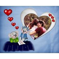 Маленькие мышата с сердечками - фото рамка для двоих