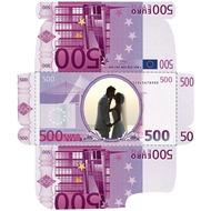 Шаблон конверта с вашим фото в виде 500 Евро